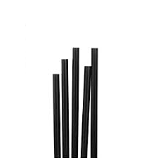 ECOPAC BIO-DEGRADABLE PAPER COCKTAIL STRAWS BLACK