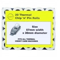 THERMAL CHIP & PIN ROLL  57x30mm 20pk