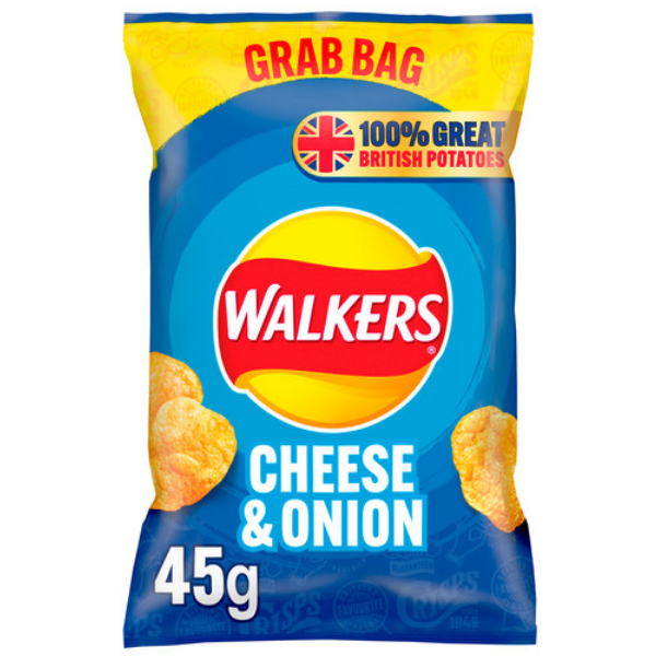 WALKERS GRAB BAG CHEESE & ONION