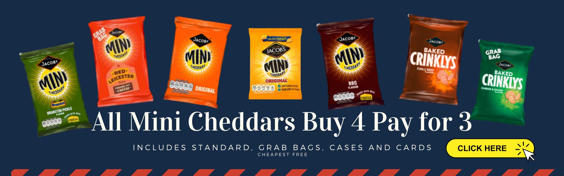 mini cheddars buy 4 pay for 3